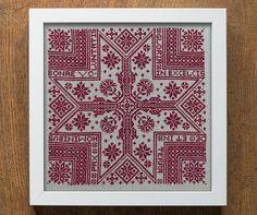 Gloria: A Christmas Star  Cross Stitch Pattern  by modernfolk