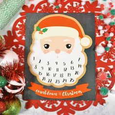 This free printable advent calendar is the perfect way for kids to countdown to Christmas! Just add a cotton ball to Santa's beard each day!