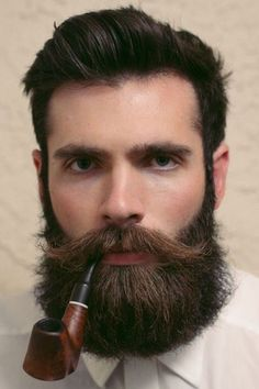 Proper Groomed Beard With Cool moustache