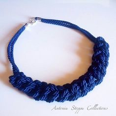 Handmade Necklace made with cord.