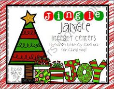 FREE Jingle Jangle Literacy Centers Mini-Collection of Centers from Wild About Firsties on TeachersNotebook.com (25 pages)  - Fun-Filled holiday fun with a 4-pack of literacy centers!