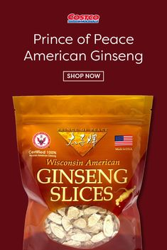 Prince of Peace 100 % Wisconsin American Ginseng Root Slices has been carefully selected, processed and packaged for your enjoyment from what is prized as one of the highest valued Ginseng in the world. Prince Of Peace, Snack Recipes, Snacks, Healthy Eats, Wisconsin, Chips, American, Food, Tapas Food