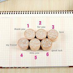 benedizione annata turno timbro di legno per scrapbook diyfingerprint partito bambini pittura compleanno nozze favori – EUR € 2.84