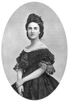 Foto de la última emperatriz de México María Carlota Amalia Augusta Victoria Clementina Leopoldina, esposa del Archiduque Maximiliano de Austria