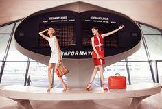Photoshoot Longchamp new SS2013 campaign with Coco Rocha www.longchamp.com