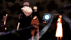 Welcome, Good Hunter : Naruto plants his rasengan into Orbito back