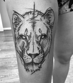 Gorgeous Look Tattoos on Leg Placement