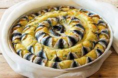 Torta di patate con sardine e mozzarella