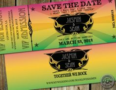 Retro Beatle's Poster inspired Save the Date  by HydraulicGraphix, $25.00