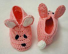 Free Crochet Bunny Slipper Pattern