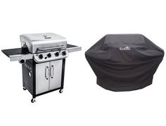 Char-Broil Performance 475 4-Burner Cabinet Gas Grill- Stainless + Cover | Gas Barbeque Reviews