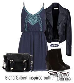 """Elena Gilbert inspired outfit/TVD"" by tvdsarahmichele ❤ liked on Polyvore featuring Balenciaga, maurices, Report, Poverty Flats and Chan Luu"