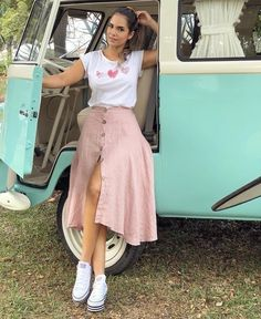 150 elegant summer outfits ideas – page 1 Long Skirt Outfits, Modest Outfits, Modest Fashion, Casual Dresses, Girl Outfits, Fashion Dresses, Elegant Summer Outfits, Classy Outfits, Spring Outfits