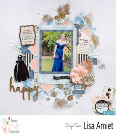 Lisa has created this layout 'happy' using the Carta Bella Metropolitan Girl Collection, to see more visit our blog