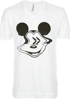 Mickey Mouse Print T-shirt - Neil Barrett
