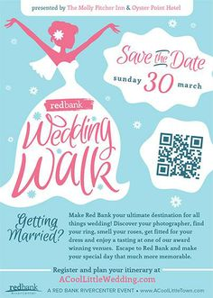 Central NJ and Jersey shore brides! Don't miss the Red Bank Wedding Walk on Sunday, March 30th, presented by The Molly Pitcher Inn and Oyster Point Hotel and the Red Bank RiverCenter! View www.ACoolLittleWedding.com for details and to register... #redbank #weddingwalk