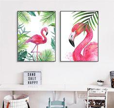 Flamingo Painting, Flamingo Decor, Flamingo Print, Pink Flamingos, Small Canvas Paintings, Diy Canvas Art, Acrylic Painting Canvas, Wall Art Decor, Wall Art Prints