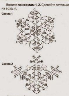 How to Crochet Wave Fan Edging Border Stitch Crochet Ornament Patterns, Crochet Snowflake Pattern, Crochet Motifs, Christmas Crochet Patterns, Holiday Crochet, Crochet Snowflakes, Crochet Stitches Patterns, Crochet Diagram, Thread Crochet