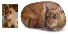 Roberto Rizzo painted rock dog