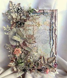 Ideas Vintage Cards Hand Made Shabby Mixed Media For 2019 Vintage Frames, Vintage Cards, Diy And Crafts, Paper Crafts, Mixed Media Cards, Shabby Chic Cards, Shabby Chic Journal, Pretty Cards, Flower Cards