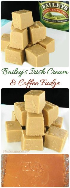 This Bailey's Irish Cream & Coffee fudge is the perfect sweet treat for your holiday table. It is delicious and so easy to make, too. Get the taste of Bailey's Irish cream in a piece of holiday fudge, for the ultimate in Christmas sweet treats. Delicious Fudge Recipe, Best Fudge Recipe, Delicious Desserts, Delicious Chocolate, Christmas Fudge, Christmas Baking, Christmas Candy, Christmas Crack, Bonbon