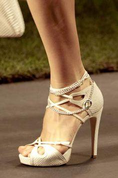beige straps designer sandals - YES PLEASE