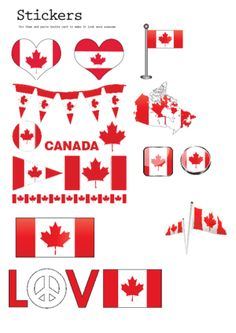 Print your own Canada themed stickers! Canadian stickers are easy to make with this free, printable image. Simply use sticker paper (found at office supply stores or online) and print out this free image, cut and enjoy! Printable Stickers, Printable Cards, Planner Stickers, Printables, Free Printable, Bullet Journal Canada, Bullet Journals, Science For Kids, Activities For Kids