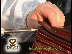 Manetti Silvana. Borse in pelle artigianali prodotte a Firenze. Italian leather bags production. - YouTube