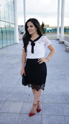 Look do Dia: Conjunto Preto e Branco Via Evangélica | Blog da Paola