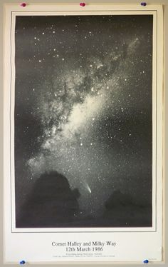 Vintage Space Poster Halley's Comet