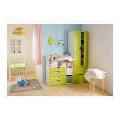 Babyzimmer ikea stuva  Ein Babyzimmer mit STUVA Wickeltisch mit 4 Schubladen und STUVA ...
