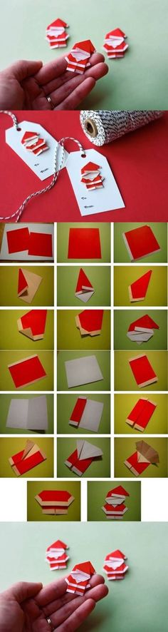 DIY Cute Paper Origami Santa Claus / That's actually a really cute santa!