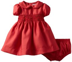 Amazon.com: Hartstrings Baby-Girls Newborn Shantung Smocked Dress And Diaper Cover Set: Clothing