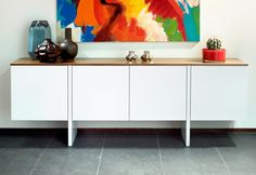 Store your extra dinnerware, flatware, and table linens in a buffet table or sideboard. Shop our great selection of stylish buffet tables and sideboards. Sideboard Design, Commode Design, Sideboard Modern, Buffet Design, White Sideboard, Sideboard Buffet, Console Cabinet, Sideboard Furniture, Console Tables
