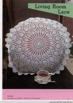 Crochet pineapple big pillow ♥LCP♥ with diagram. You must scroll down to fin the corresponding diagram ---- Trabajos de piñas a crochet con diagram.