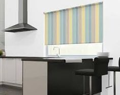 blue and yellow striped blind - Google Search