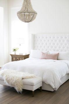 A feminine master bedroom
