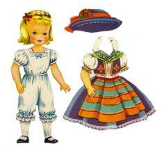 Sharon's Sunlit Memories: Heidi and Peter Paper Dolls (Saalfield)