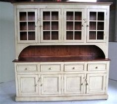 Custom White Farmhouse Hutch
