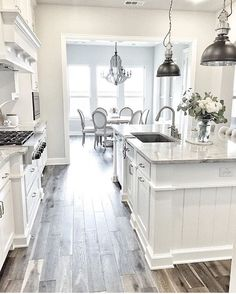 Kitchen Island Paint Color Is Chelsea Gray Benjamin Moorevia Classy Gray And White Kitchen Designs Design Inspiration