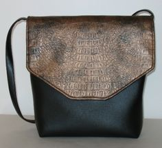 Faux leather bag designed and made by Ellen Younkins