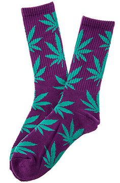 [KL Exclusive] The Plantlife Socks in Purple and Turqouise by HUF. Available in multiple colors! $12