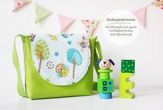 Kindergartentasche mit Eule & Co.