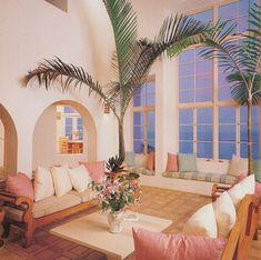 Deco 79 Wood Nautical Chest, 19 by - Home Style Corner 80s Interior Design, 1980s Interior, Deco Retro, Decor Scandinavian, Design Apartment, Art Deco Home, Architectural Digest, Retro Home Decor, My New Room