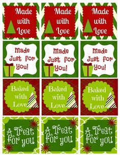 Made with Love Gift Tags- For all those handmade gifts you make - Second Chance To Dream