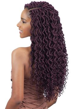 TOMO 24 Roots Goddess Faux Locs Curly Crochet Braids Hair Ombre Kanekalon Synthetic Dreadlocks Hair Extensions For Women # crochet Braids locks Curly Crochet Braids, Crochets Braids, Crochet Braid Styles, Crochet Braids Hairstyles, Crochet Hair, Faux Locs Hairstyles, African Hairstyles, Girl Hairstyles, Wedding Hairstyles