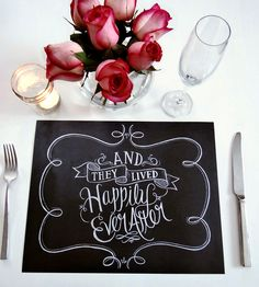 Book Of 25 Tear-Out Paper Placemats - Wedding Placemats - Chalkboard Placemats - And They Lived Happily Ever After - Wedding Chalk Art Wedding Table Games, Wedding Decorations, Wedding Chalk Art, Blackboard Wedding, Lily And Val, Wedding Designs, Wedding Ideas, Rustic Wedding, Diy Wedding