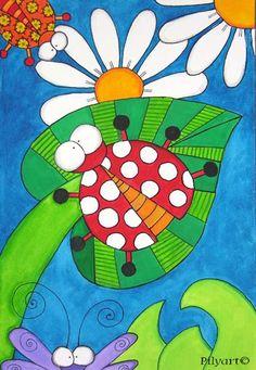 Ladybug art - Google Search