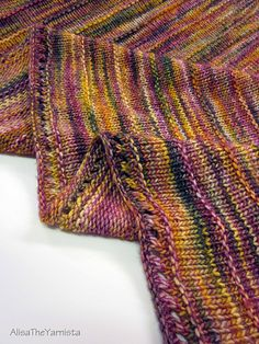 Boneyard Shawl by Stephen West. one of my favorite patterns Knitted Scarves, Knit Shawls, Crochet Shawl, Knit Crochet, Knitting Stitches, Knitting Needles, Knitting Yarn, Hand Knitting, Knitting Ideas