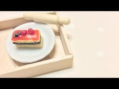 Easy Berry Cake Polymer Clay Tutorial